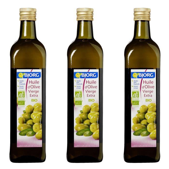 [LOT DE 3] BJORG Huile d'Olive vierge extra Bio - 75 cl