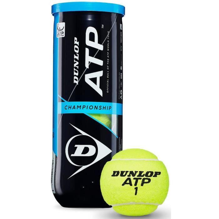 Dunlop balle de tennis ATP Championship caoutchouc/felt jaune 3 pièces