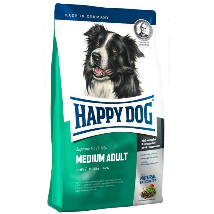 Happy Dog Nourriture pour Chien Medium Adult, 1er Pack (1 x 300 g) - 60306