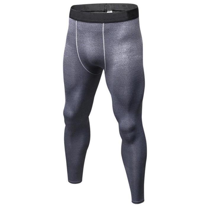 Pantalon de Compression Homme Legging Collant de Sport Séchage Rapide Stretch Respirant