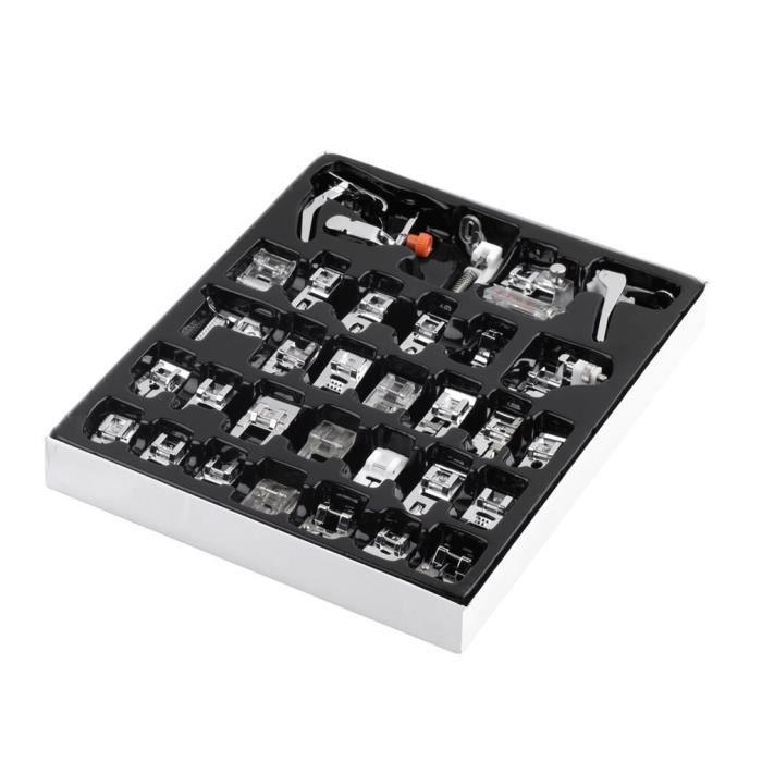 32x presseur de pieds de machine à coudre, bons kits de pied de machine à coudre domestique
