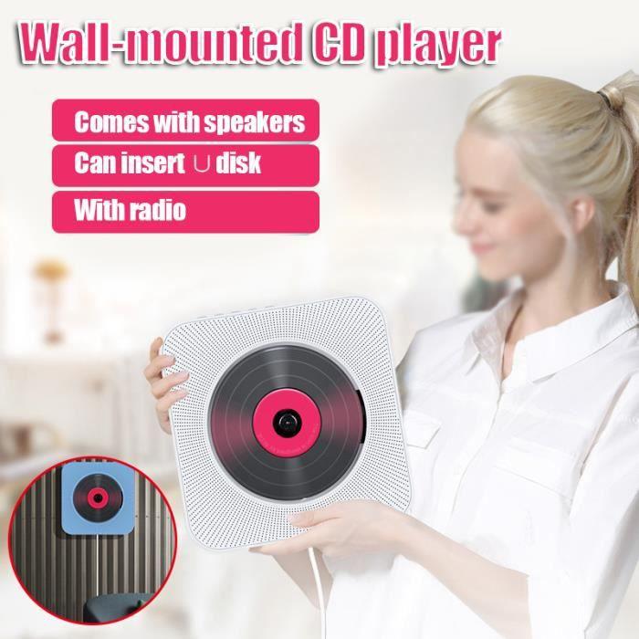 Lecteur CD avec lecteur de musique bluetooth mural Audio domestique Boombox home avec port d'interface USB