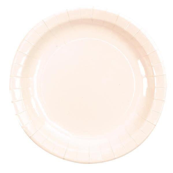 Assiette laquée blanche (x10) R/3543 Matière carton