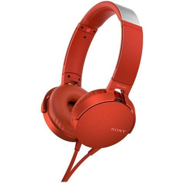 SONY - Casque EXTRA BASS™ XB550AP - Rouge