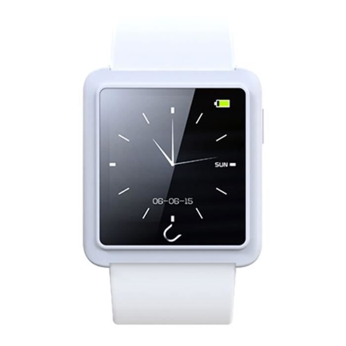 montre connect e u10l pour iphone 5c blanche achat montre connect e pas cher avis et. Black Bedroom Furniture Sets. Home Design Ideas