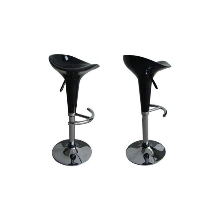 set de 2 tabourets v rin noirs achat vente tabouret de bar noir cdiscount. Black Bedroom Furniture Sets. Home Design Ideas