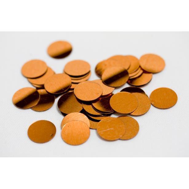 CONFETTIS Confettis de table ronds orange