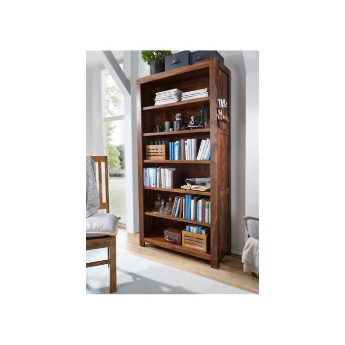 ÉTAGÈRE - BIBLIOTHÈQUE Étagère-Bibliothèque, Bois Massif de Sheesham-Pali