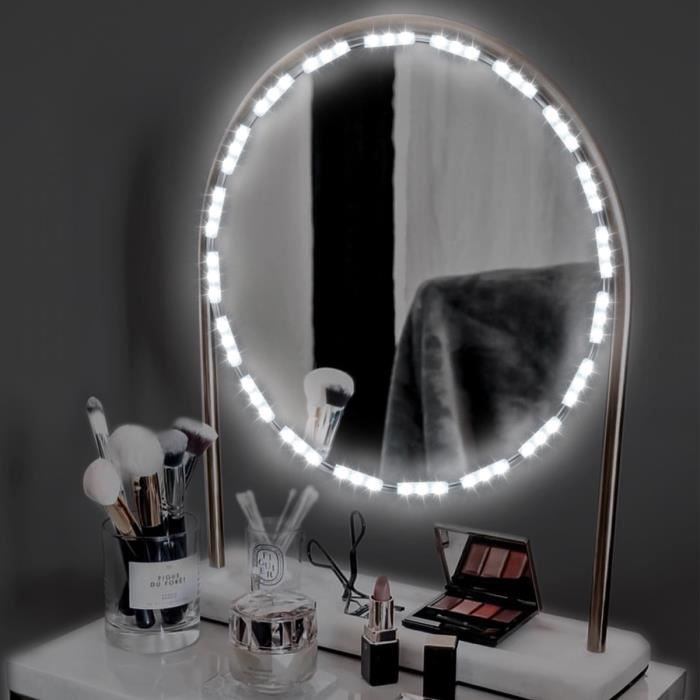 Miroir Maquillage Hollywood Kit De Lumire LED Vanit Luminosit Rglable Tlcommande Pour Sur Coiffeuse EU