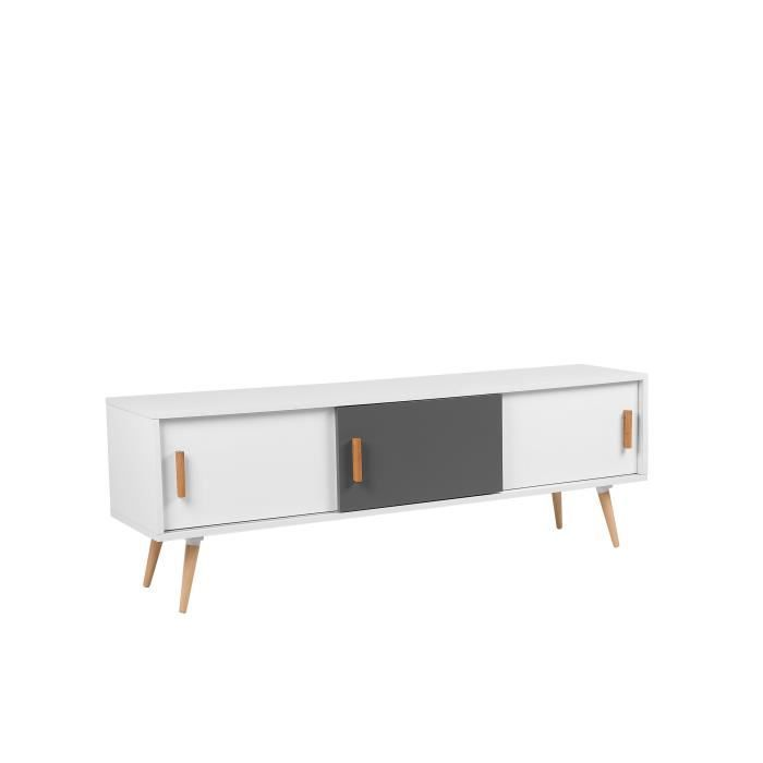 meubles tv avec rangement gris achat vente pas cher. Black Bedroom Furniture Sets. Home Design Ideas