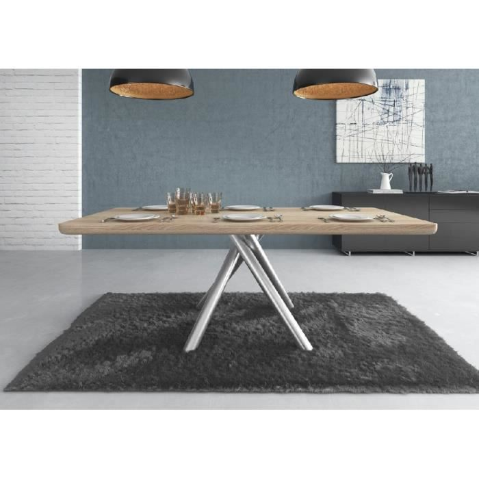 Table manger design slane bois clair achat vente for Table a manger design