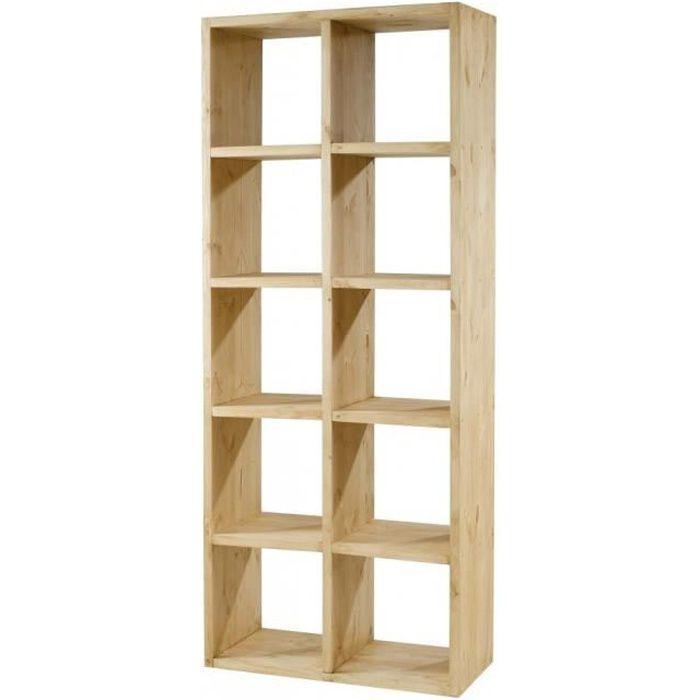 Cube pin massif 10 rangements Colorado Couleurs… - Achat / Vente meuble étagère Cube pin massif ...