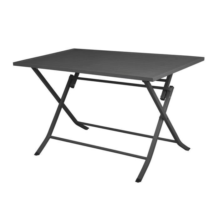Table de jardin pliante rectangulaire en aluminium L120cm ...