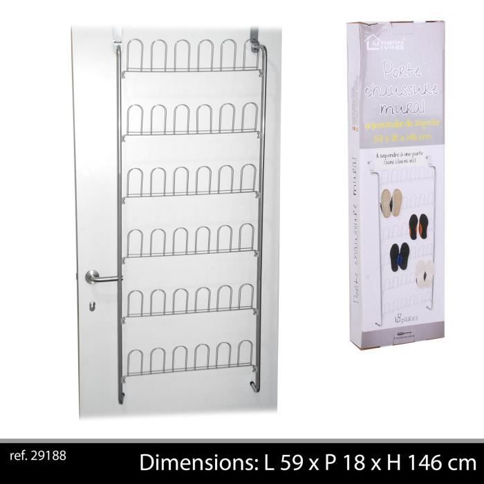 support rack paire chaussure suspendre porte mural achat vente housse de rangement support. Black Bedroom Furniture Sets. Home Design Ideas