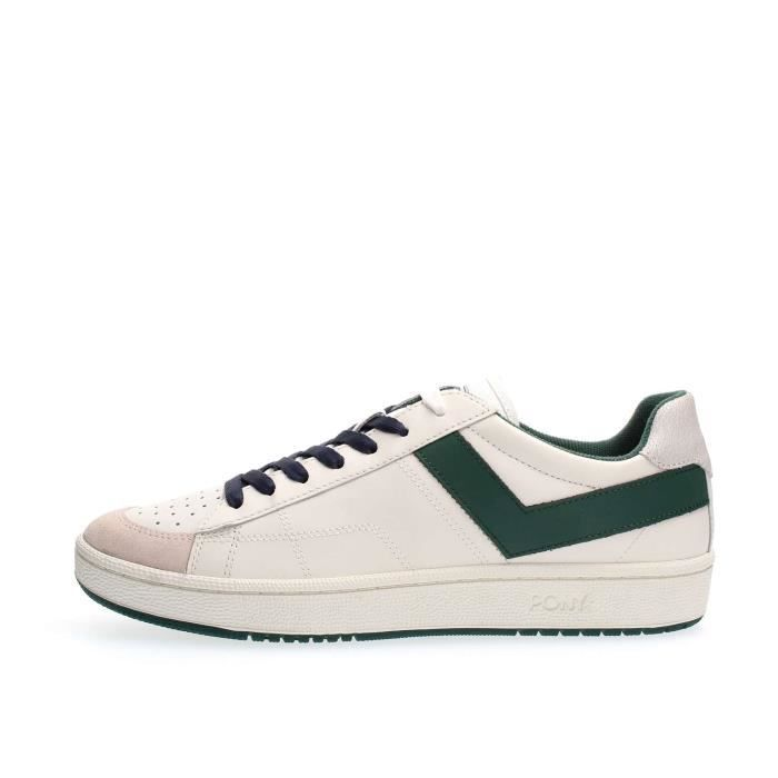BASKET PONY SNEAKERS Homme WHITE GREEN