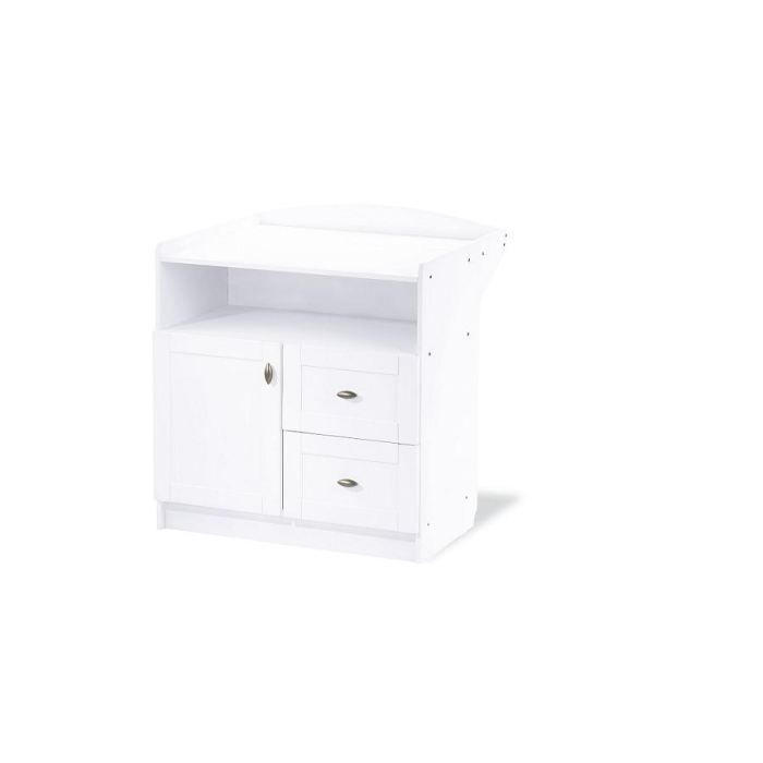 Commode langer b b blanche laura achat vente table - Commode table a langer bebe kitty blanc ...