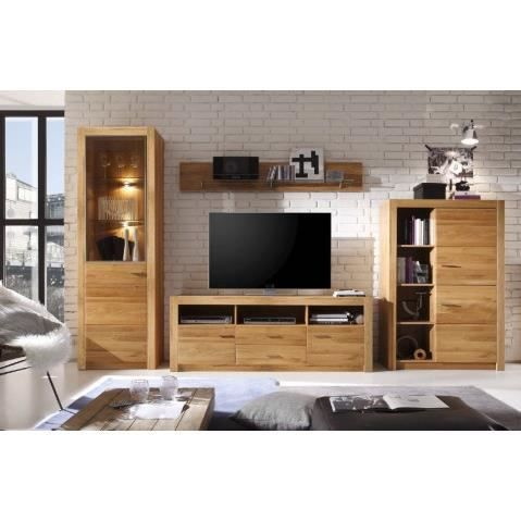 ensemble meuble tv design en bois de chene avec eclairage malpensa 356 cm achat vente meuble. Black Bedroom Furniture Sets. Home Design Ideas