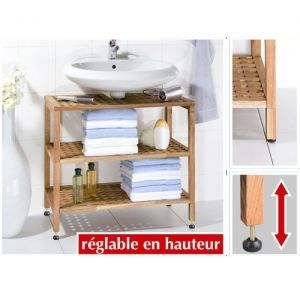 etag re en bois dessous de lavabo gamme nordic achat vente meuble vasque plan meuble. Black Bedroom Furniture Sets. Home Design Ideas