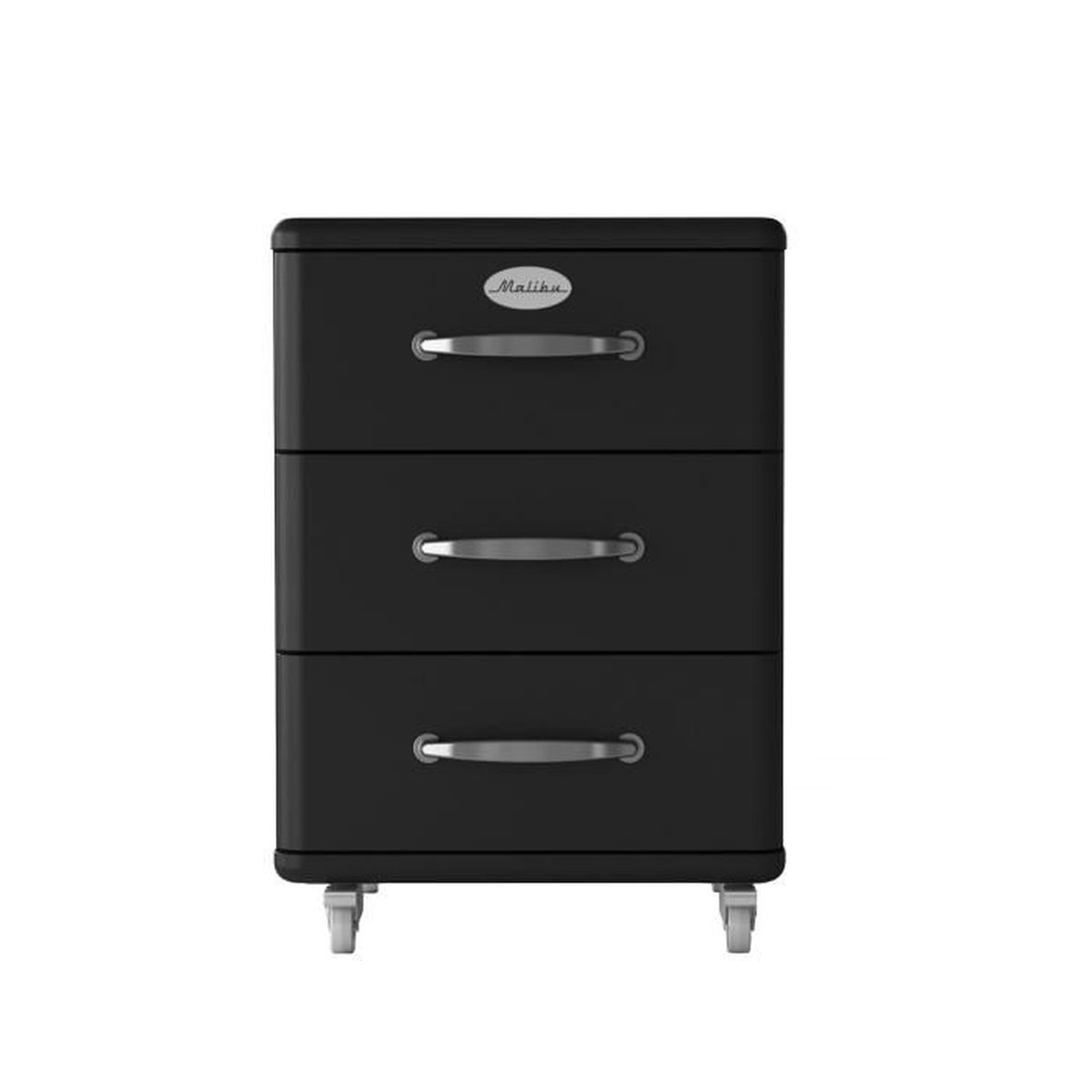 malibu caisson noir 3 tiroirs roulettes achat vente. Black Bedroom Furniture Sets. Home Design Ideas