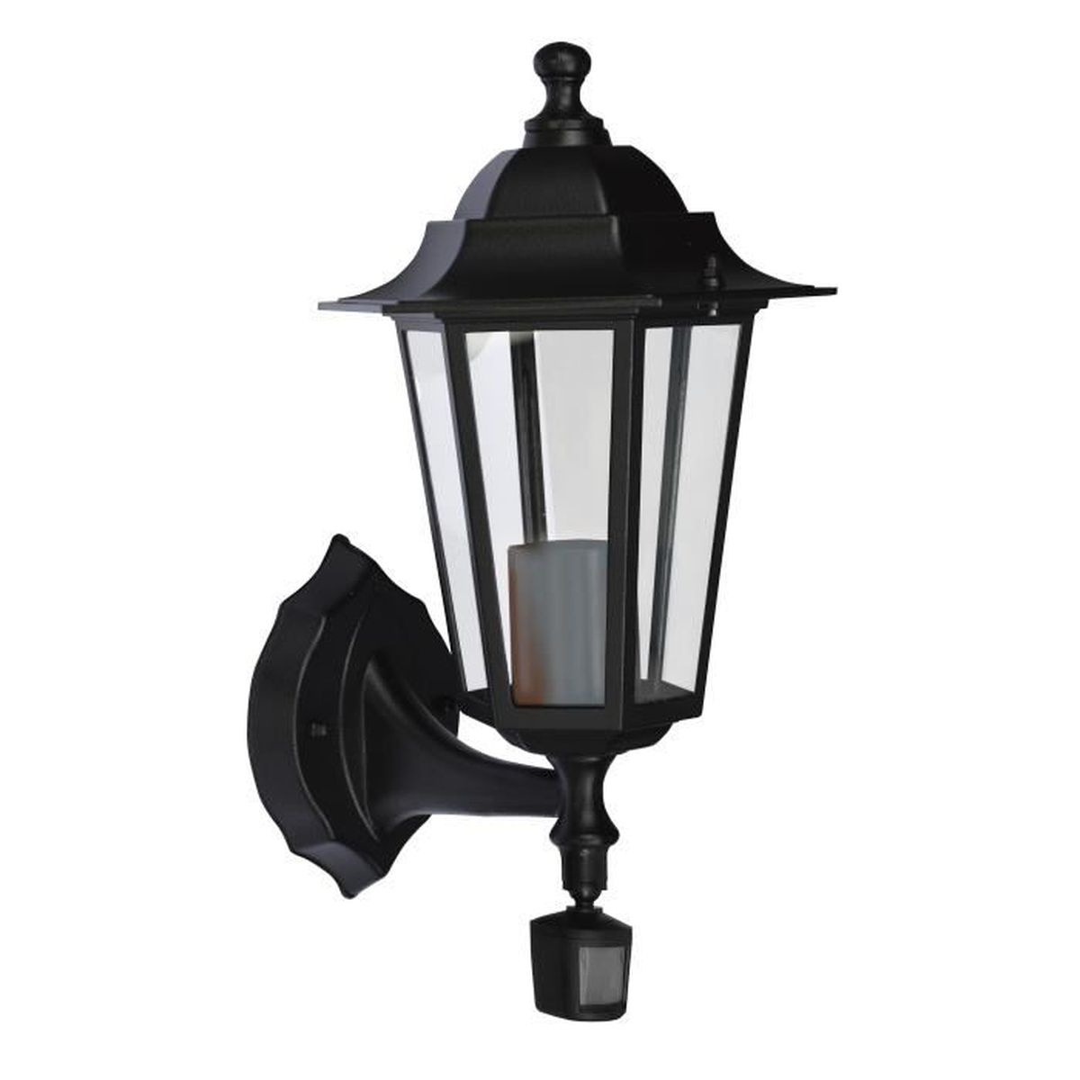 lanterne lampe de jardin avec detecteur de mouvement applique achat vente lanterne lampe. Black Bedroom Furniture Sets. Home Design Ideas