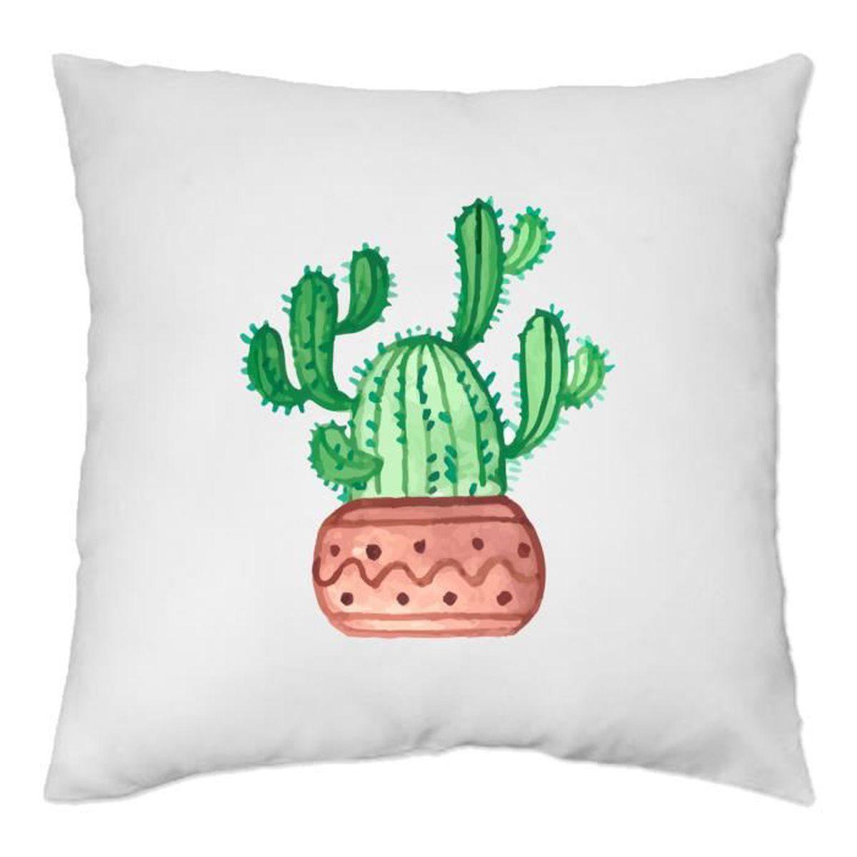 Coussin Cactus//tendance motif Cactus//Coussin Housse//40x40cm//pour le salon