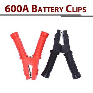 OUTIL DE DIAGNOSTIC 2pcs 600A Clips de test de batterie Booster pinces