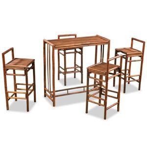 TABLE À MANGER COMPLÈTE Ensemble dîner table à manger et 4 chaises complet