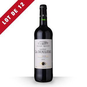 VIN ROUGE 12X Château la Moulière 2014 Rouge 75cl AOC Côtes