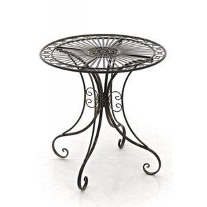 TABLE DE JARDIN  Table de jardin en fer forgé diamètre Ø 70 cm bron