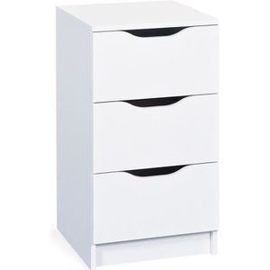 commode blanche 3 tiroirs pas cher