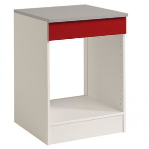 ELEMENTS BAS Luna Rouge. Meuble Four 60cm.
