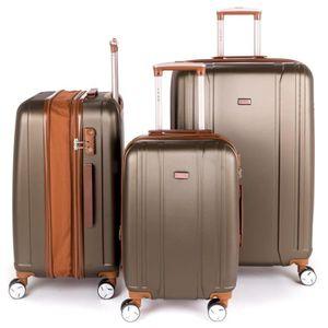 VALISE - BAGAGE Ensemble de 3 valises extensibles bicolore LYS