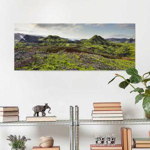 CADRE PHOTO 40x100 cm verre image - rjupnafell islande - panor