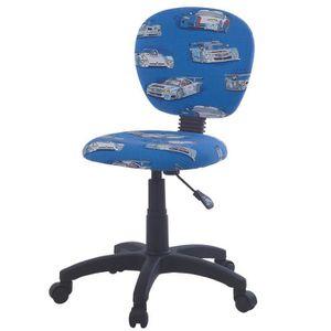 CHAISE DE BUREAU Chaise pivotante pour salle d'enfant en bleu avec