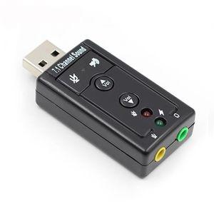CARTE SON EXTERNE Adaptateur Carte Son externe  indépendante USB 7.1