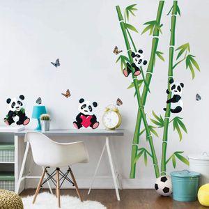 STICKERS decalmile Stickers Muraux Panda et Bambou Autocoll