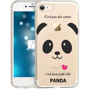 coque iphone 7 panda rose