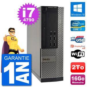 ORDI BUREAU RECONDITIONNÉ PC Dell OptiPlex 7020 SFF Intel i7-4790 RAM 16Go D