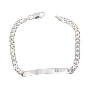 BRACELET - GOURMETTE Bracelet Homme Argent Massif 925/000 - Maille Gour