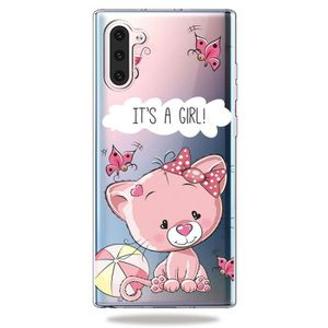 COQUE - BUMPER Coque Samsung Galaxy Note 10,Chat Mignon Souple An