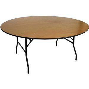 TABLE DE JARDIN  Table en bois pliante ronde 170cm