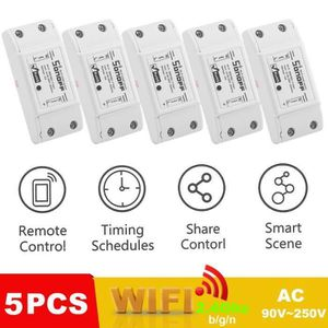 COMMANDE ECLAIRAGE 5 x Sonoff Basic WiFi Smart Witch Smart Plug Modul