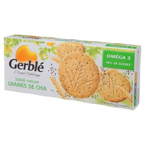 BISCUITS SECS Sablés Nature Graines de Chia 132g