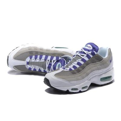 New York 8818f b88a9 Homme Nike Air Max 95 sports basket chaussures blanc violet ...