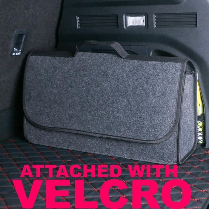 Boîte de rangement de coffre de voiture, sac en feutre souple pliable, organisateur de coffre de voiture, outils de [7838648]