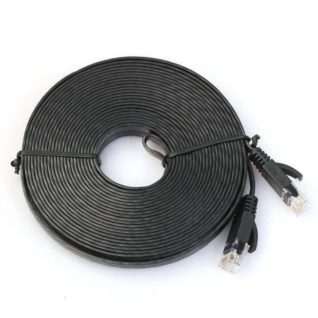 100cm plat réseau Cat6 Patch Cable Modem Routeur Ethernet Rj45 pour réseau Lan A @Gjz Pj5796