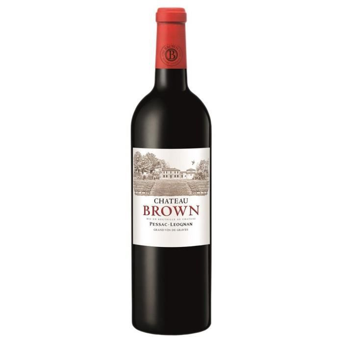 Chateau Brown - 2017 - Pessac Léognan Rouge Lot de 6 bouteilles