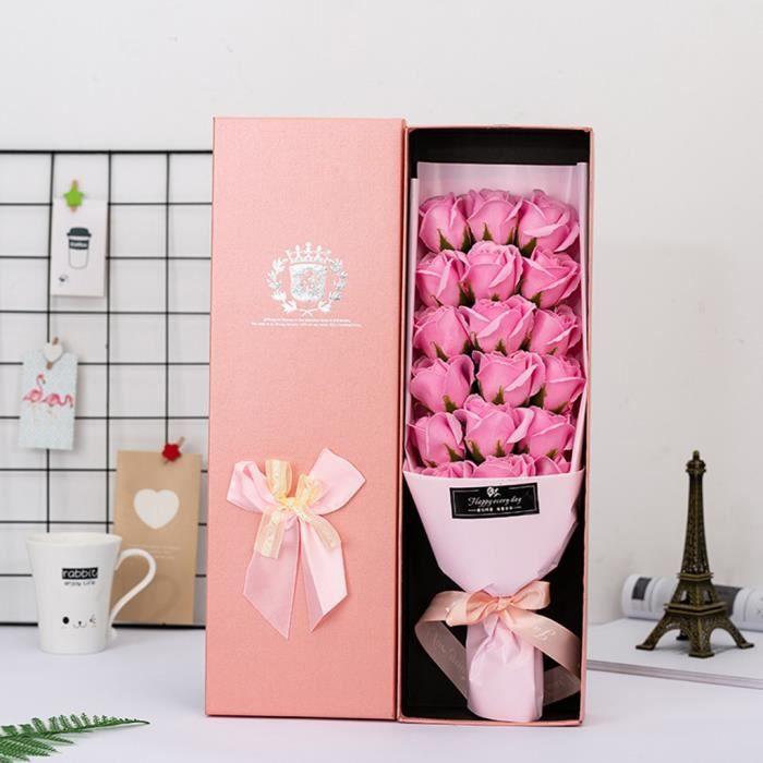 Savon Rose fleur de bijoux cadeaux Boîte Valentin de s - mère cadeau 18pcs - Box Fleur artificielle 925