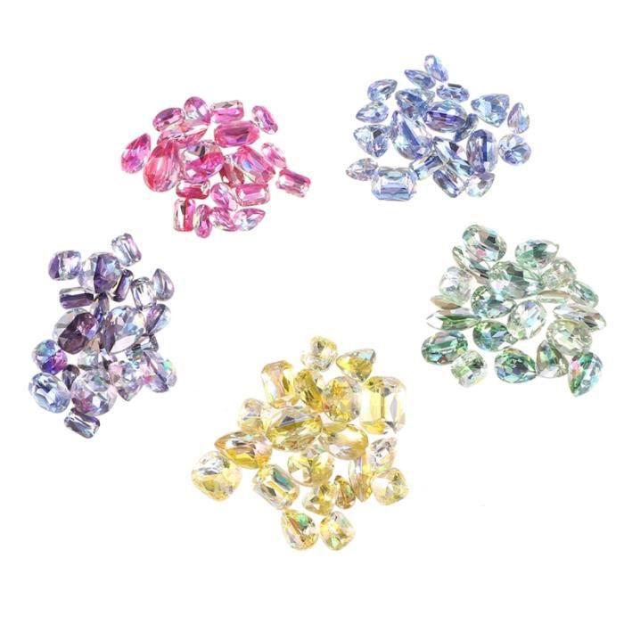 100 pièces strass beau coloré drôle décor manucure verre brillant pour fille MANICURE SET - MANICURE KIT - PEDICURE