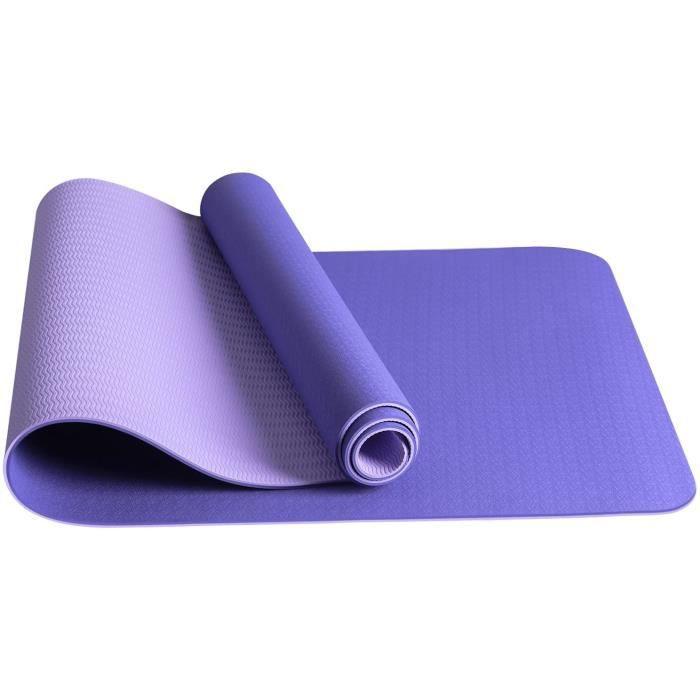 JOJOBNJ Tapis de Yoga,Tapis yoga antid&eacuterapant Epais et Durable en TPE mat&eacuteriaux,180x60x0.6cm,Avec Sac de Yoga,Pour517